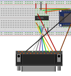 wiring diagram for parallel port printer with 74hc595 shift register [ 1797 x 1191 Pixel ]
