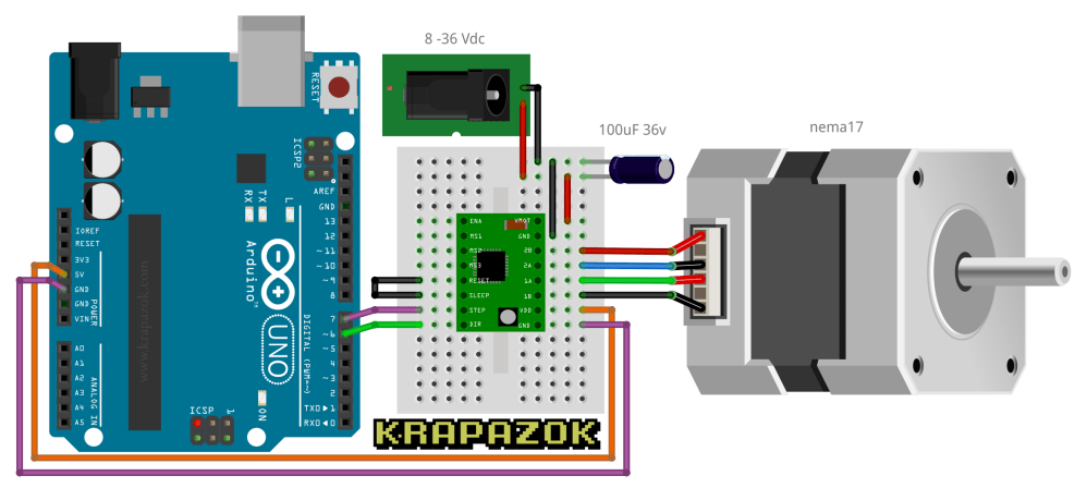 medium resolution of wiring schematic nema17 stepper motor and drv8825 r2d2 2017 wiki github