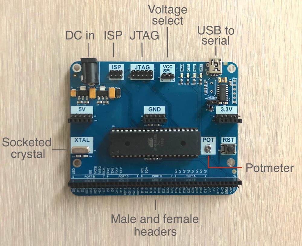 medium resolution of development board front