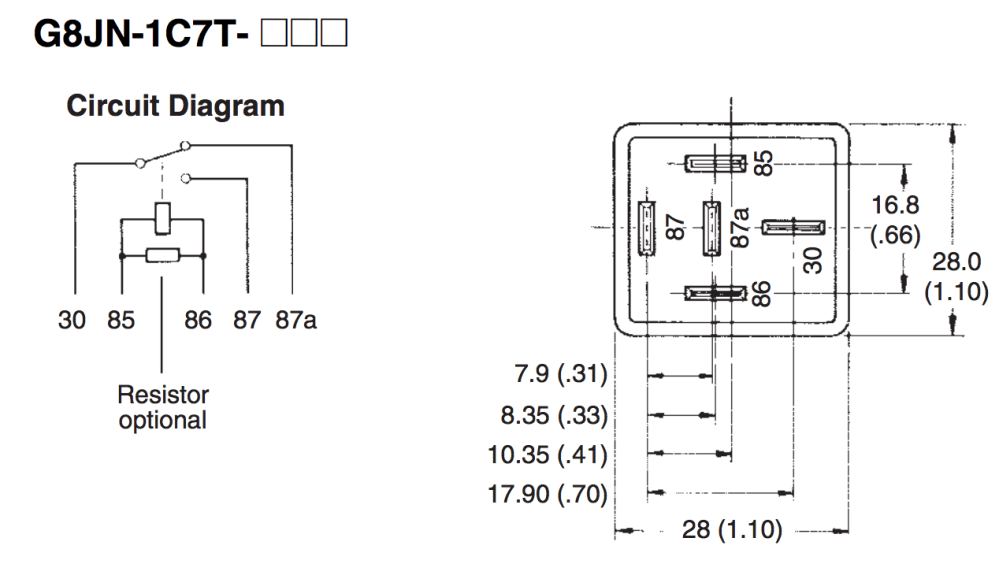 medium resolution of 4 12 volt dc relay left and relay circuit diagram right
