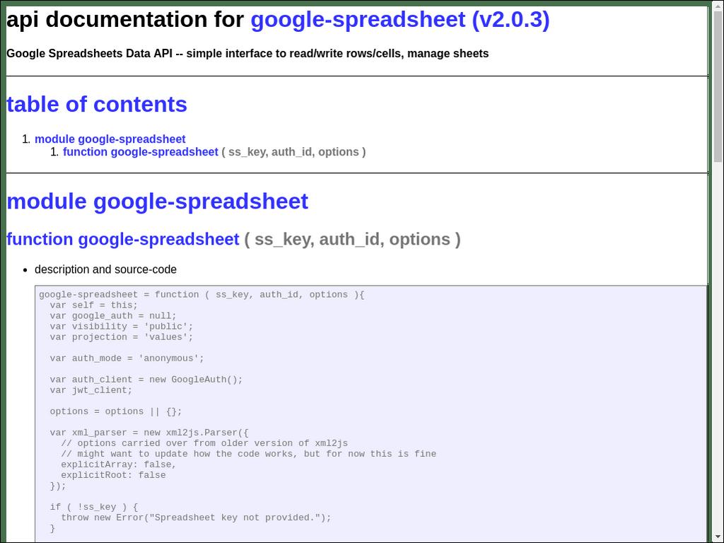 npmdoc-google-spreadsheet 0.0.2 on npm - Libraries.io