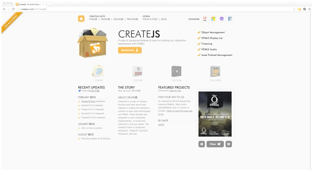 sandbox/GettingStartedWithCreateJS at master · CreateJS