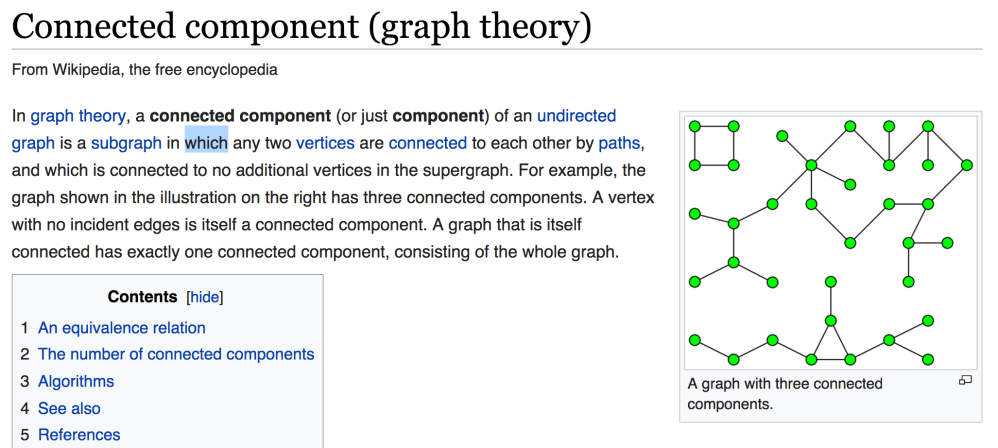 medium resolution of wikipedia tells a couple different things first that a graph is made up of subgraphs this makes sense as a collection of vertices and edges consists of