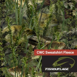 Fishouflage Bass - CWC Sweatshirt Fleece Fabric