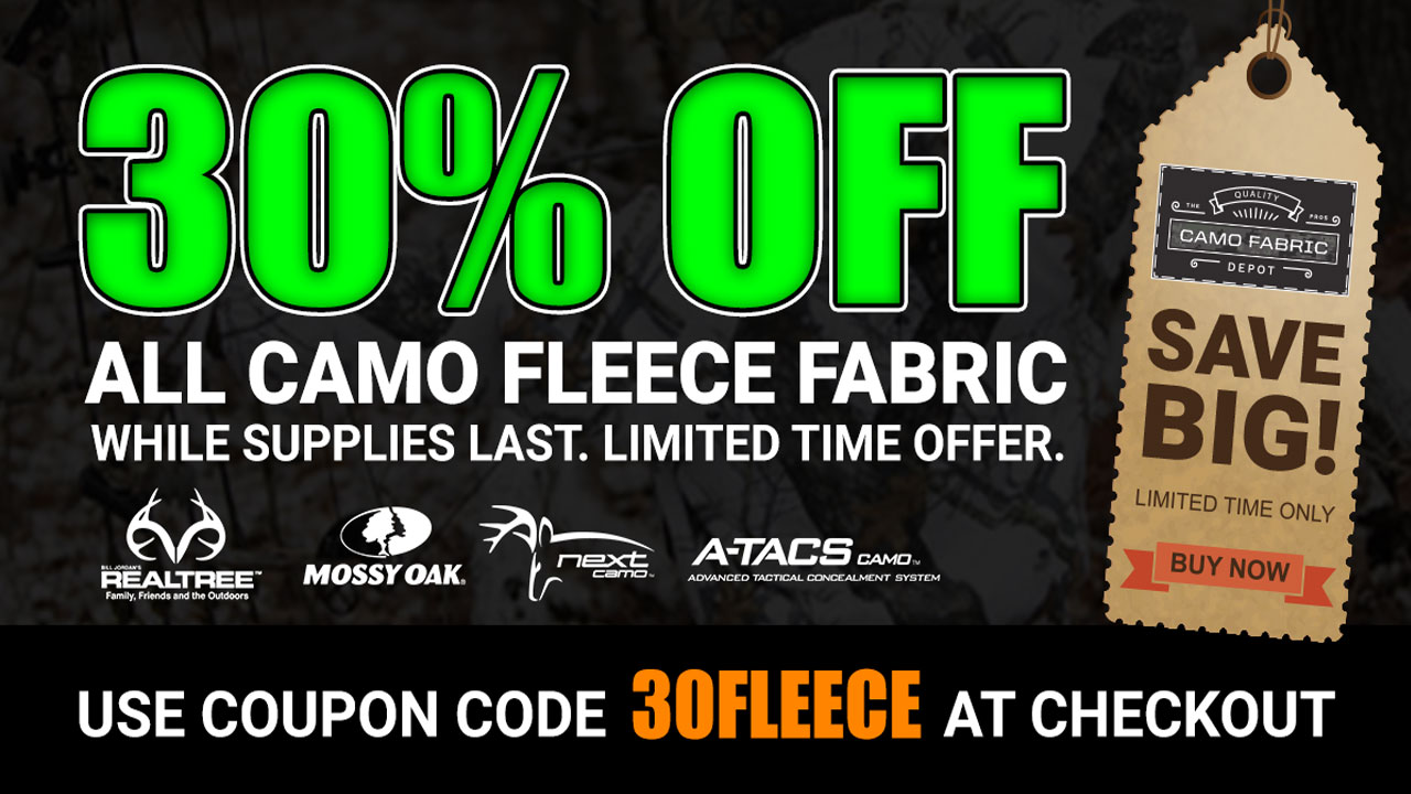 Camo Fleece Fabric Sale