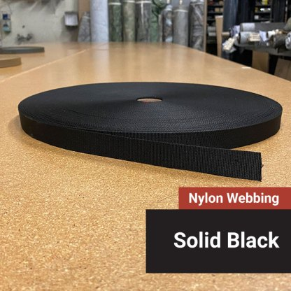 Nylon Webbing - Black