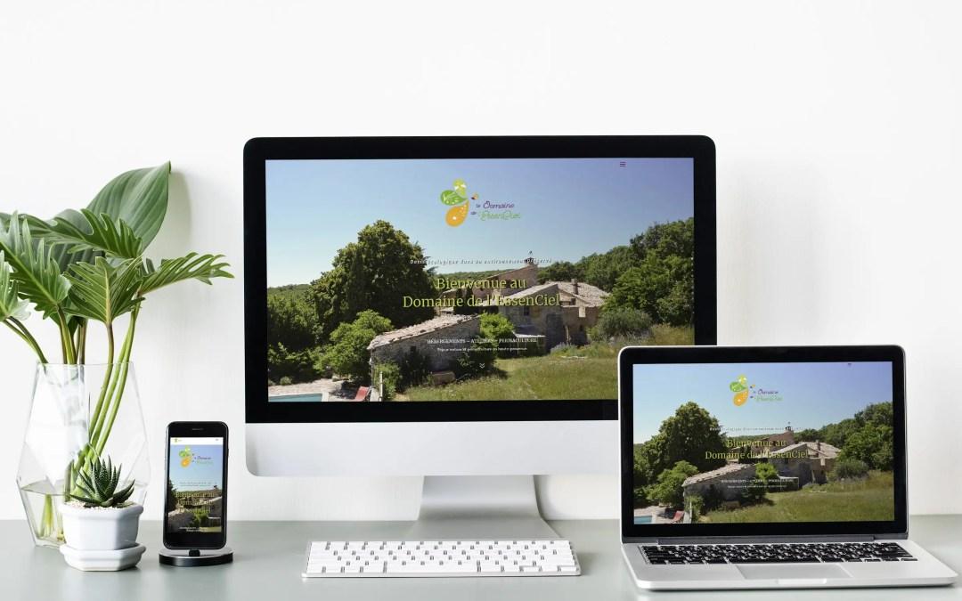 Le Domaine de l'EssenCiel a un tout nouveau site !