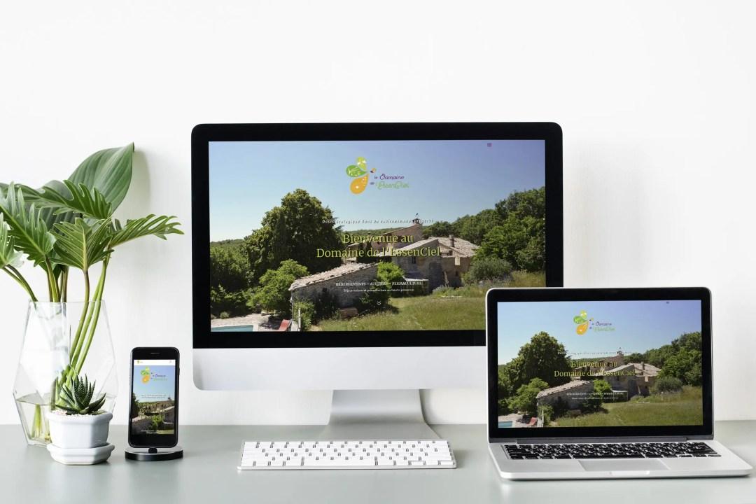 Le Domaine de l'EssenCiel_Site internet