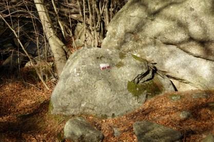 Bolli del sentiero che la pista di Groscavallo ha spedito nel dimenticatoio