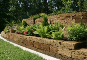 Retaining Wall, Camosse Masonry Supply, Massachusetts