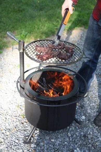 Zentro Stainless Steel Smokeless Fire Pit Insert : zentro, stainless, steel, smokeless, insert, Double, Flame, Smoke, Firepit, Camosse, Masonry, Supply