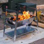 【スノーピーク話題の焚き火台】コンパクトな小型「焚火台SR」をソロキャンプで使ってみた!