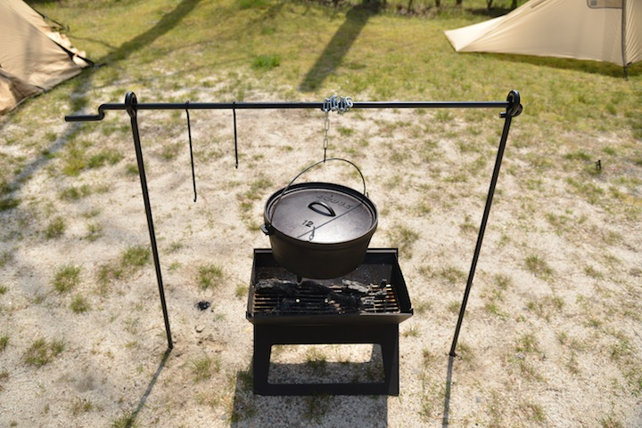 fishing ladder chair office chairs nj <web限定販売>camp mania products / bonfire cooking stand (l) | camp