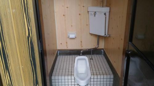 吹上浜キャンプ場のトイレ