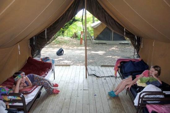 Platform Tent at Singing Hills
