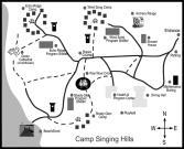 Map of Facilities at Singing Hills