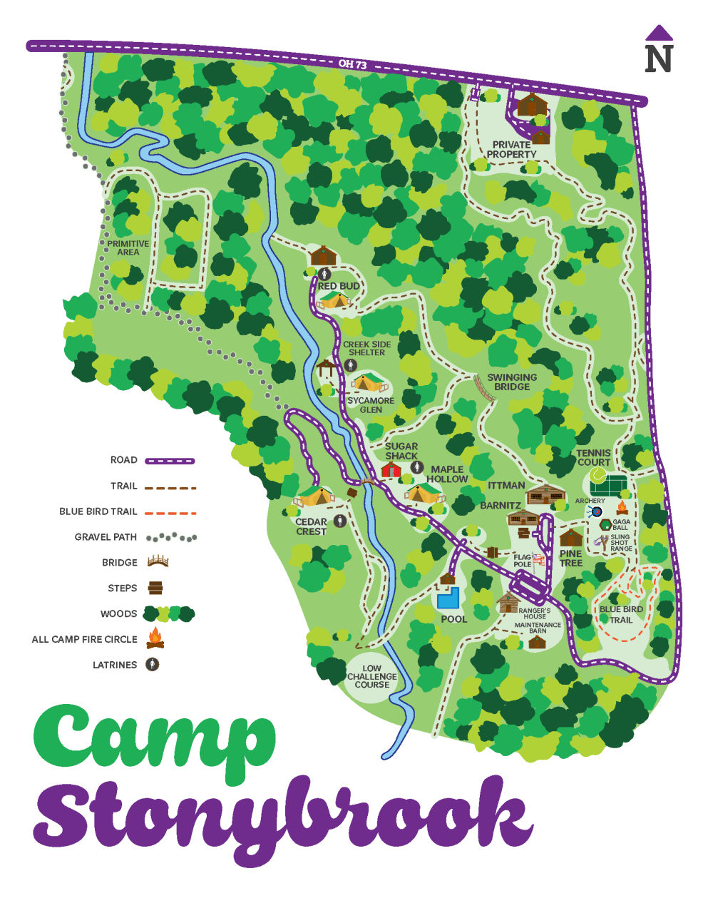 Map of Camp Stonybrook