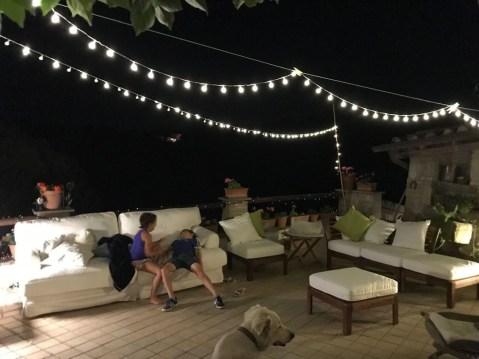 terrazza di notte