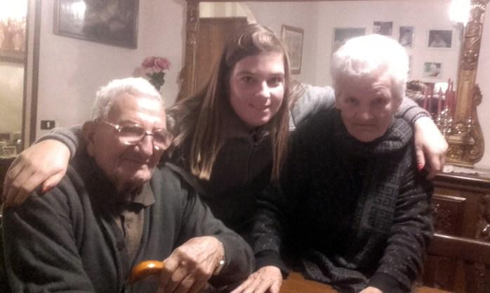 Dino Comandini, sua nipote Ilaria Comandini e Lidia Massacci (10/01/2020)