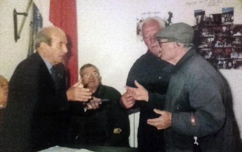La Sezione dei Combattenti di Campagnano di Roma. Da sx si riconoscono: Biagio Rossi, Dino Comandini, Alessandro Alessandri e Umberto Ferracci
