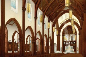 The interior of the new Christ the King Chapel.