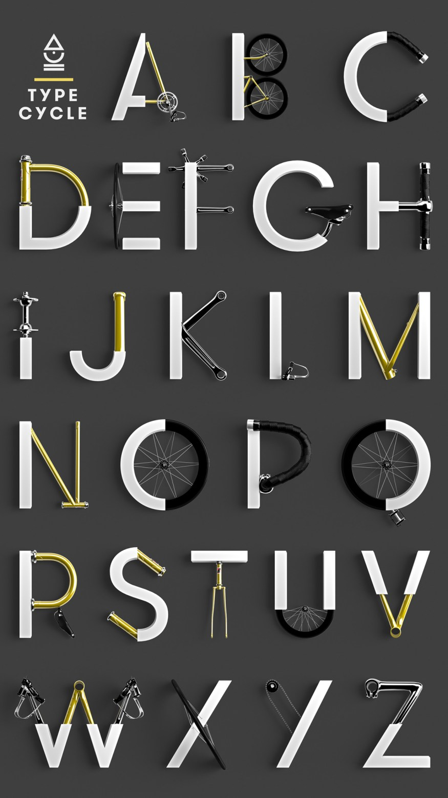 Cycle-Typeface-marcelpiekarski-poster-cotw