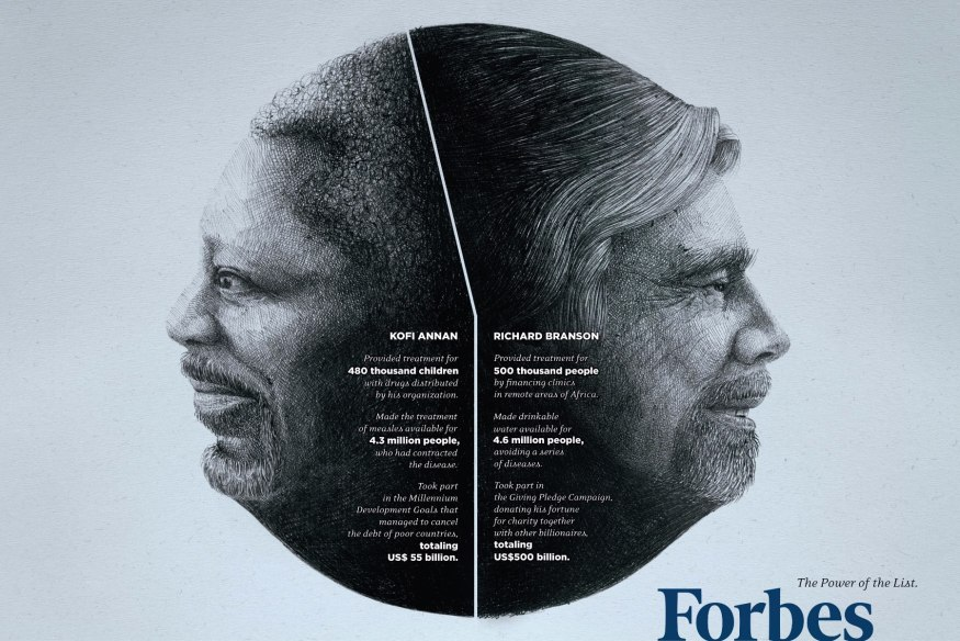 Forbes Magazine: Kofi Annan & Richard Branson