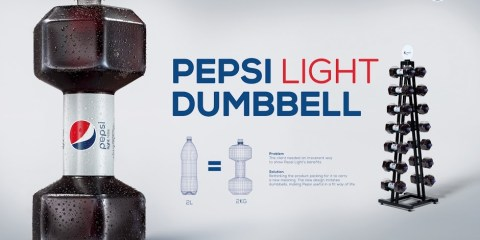 Pepsi Light dumbbell
