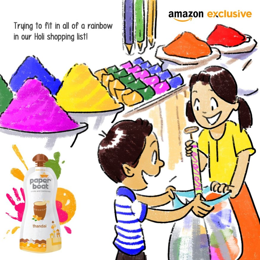 Paper Boat Holi colors