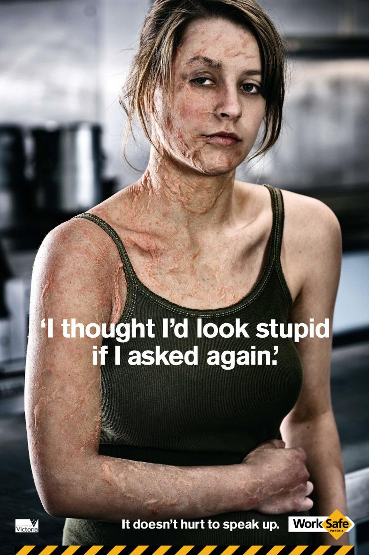 Worksafe Victoria - It doesn't hurt to speak up.