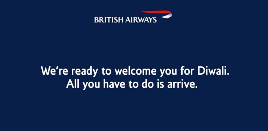 Celebrate Diwali in the UK with British Airways | Happy Diwali