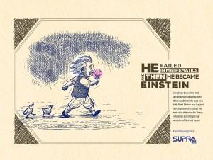 Supra Pens | Learn Beyond Grades | print campaign | Einstein