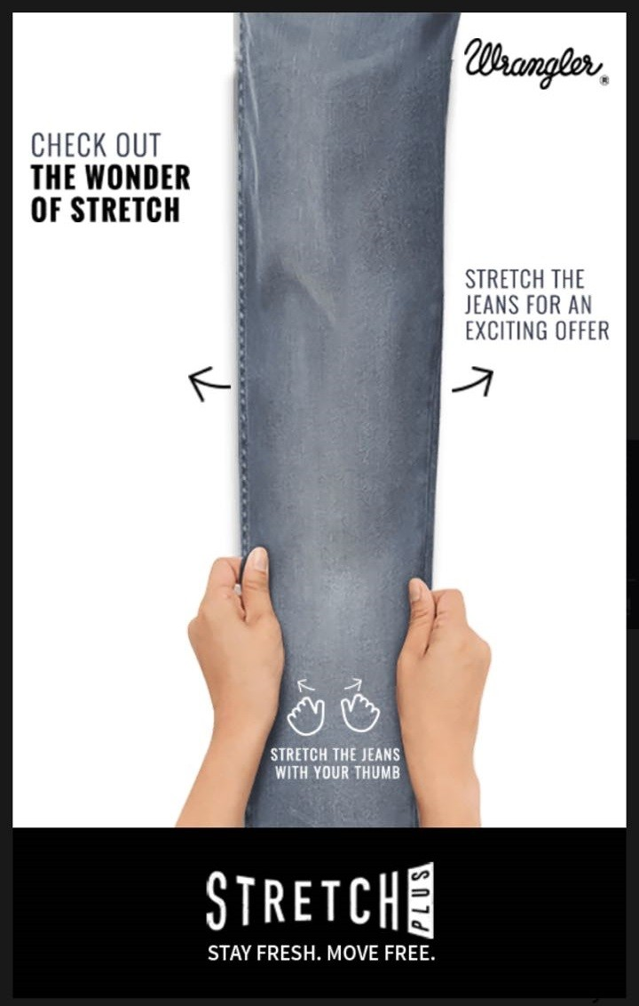 Isobar mobile ad campaign for Wrangler Stretch Plus