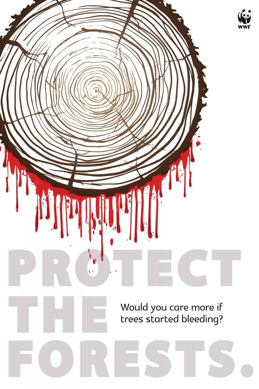Print advertising to Protect the forests by artist Unnati Sharma