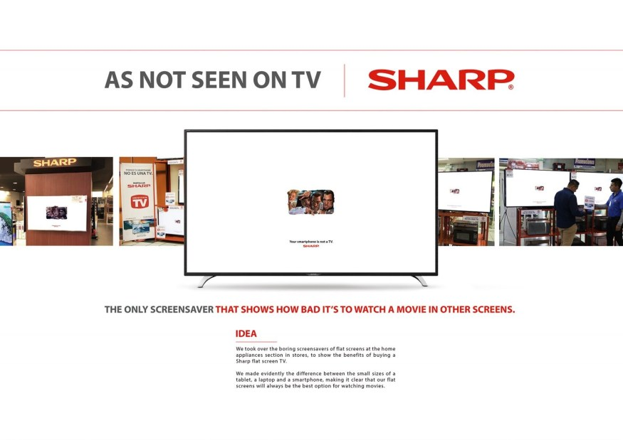 As Not Seen On TV | SHARP Campaign