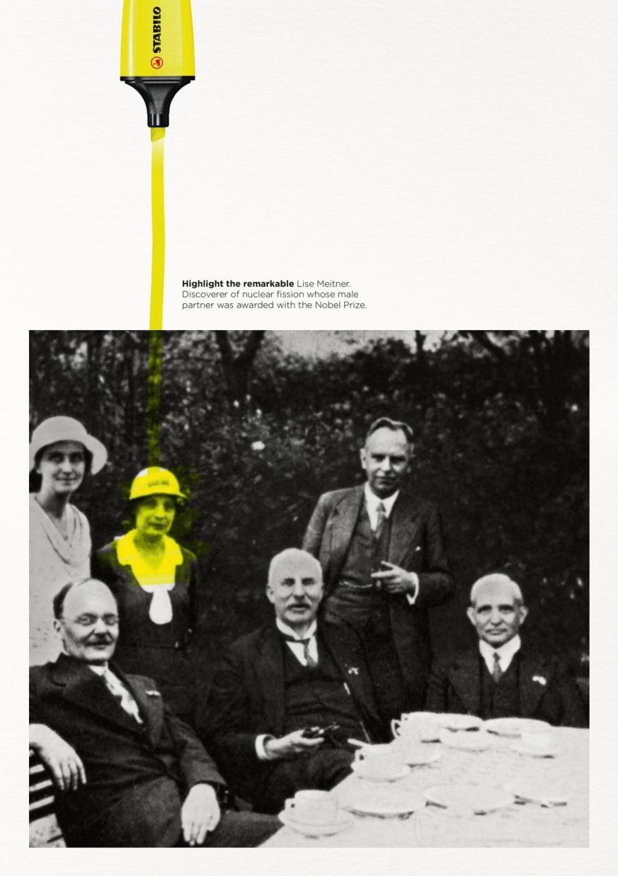 Stabilo Boss Highlight the Remarkable - Lise Meitner