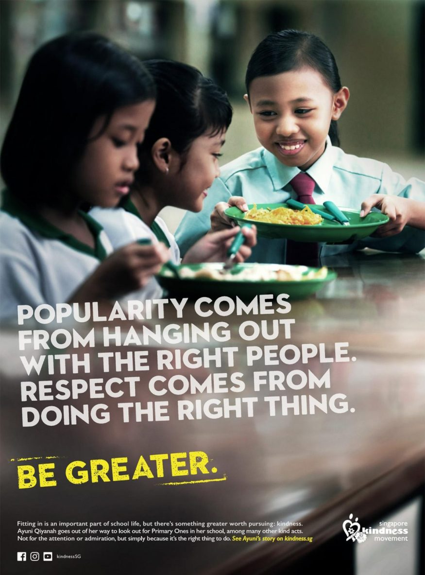 Singapore Kindness Movement -Be Greater