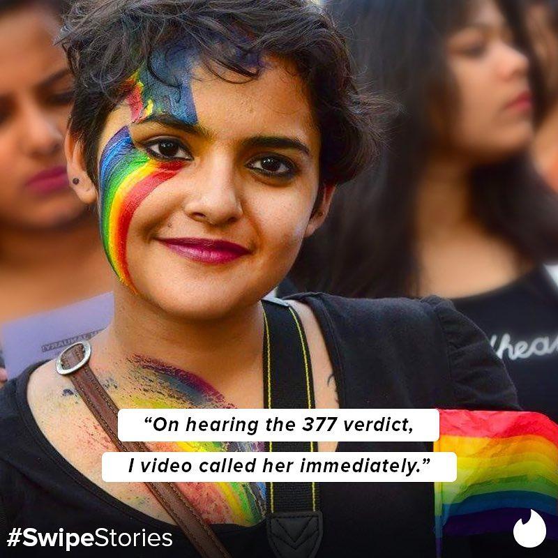 Tinder Section 377   LGBTQ