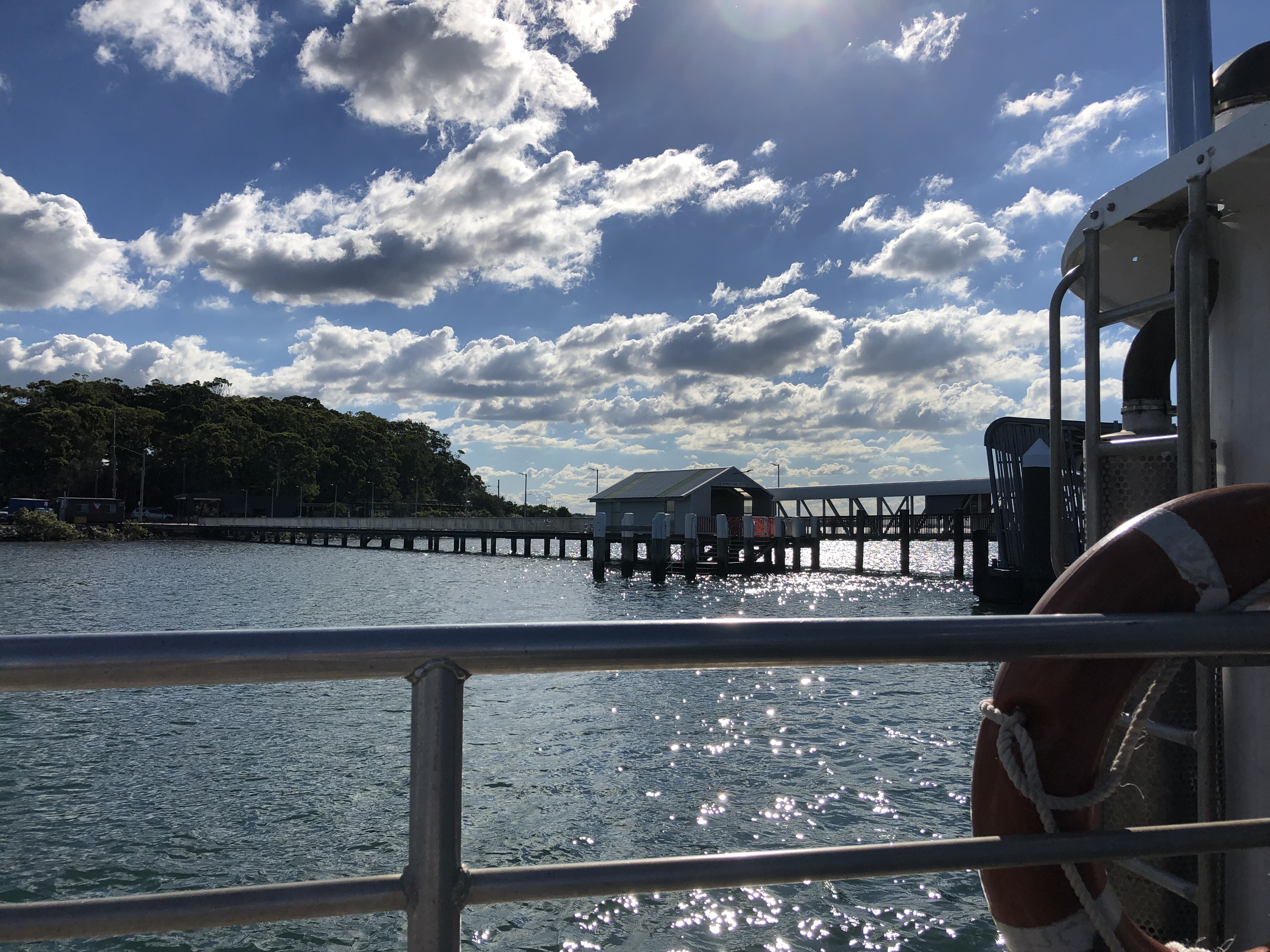 Catching ferry to Moreton Bay