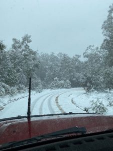 Driving in snow in Australia