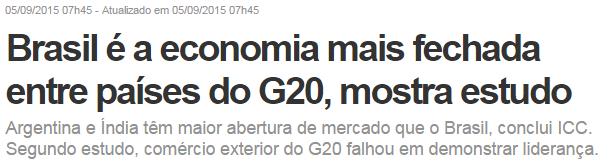materia do g20 - brasil