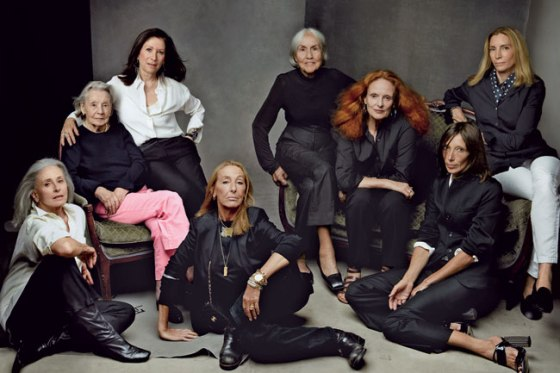 Vogue Fashion Editors over the decadesPhoto by Annie Leibovitz