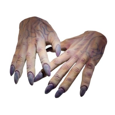 Voldemort's hands - you can buy them as a Halloween Costume