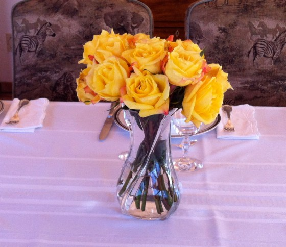 Sometimes all you need is pretty yellow roses cut shorter