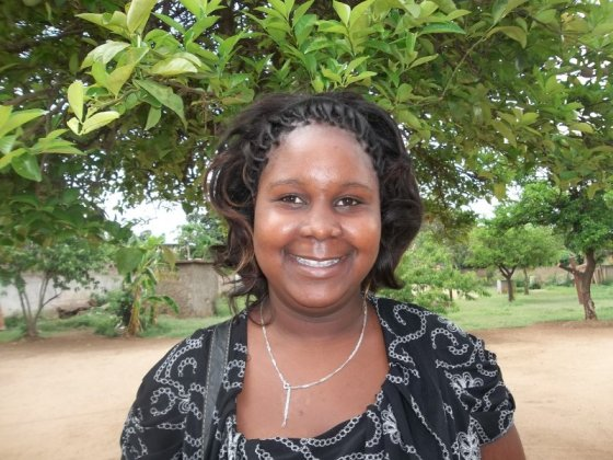 This is Edite. I just found out her loan through Kiva has been fully funded. She can start building her house