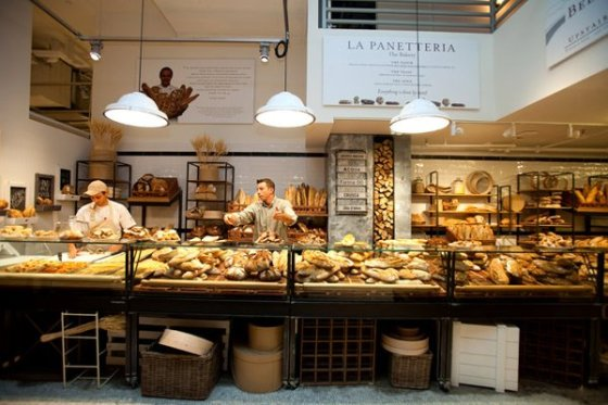 The bread corner at Eataly in New York