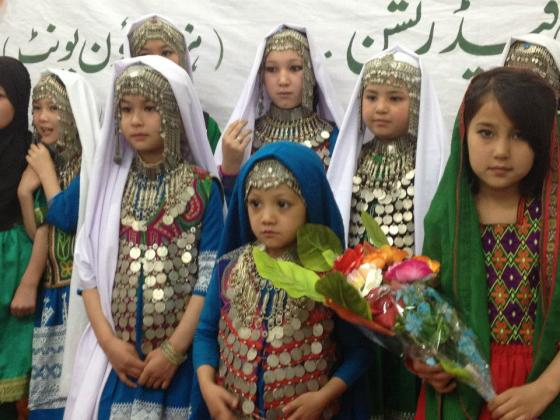 A group of Hazara girls from Pakistan