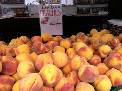 Peaches from Tenerelli Orchards - my favorite at the Farmer's Market