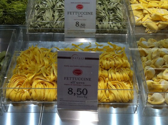 Fresh pasta at Eataly in Rome