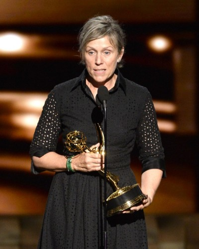 Frances McDormand at the recent Emmy Awards